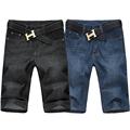 Men Big Size 42 44 46 48 50 52 Black Denim Shorts 5XL 6XL 7XL Plus