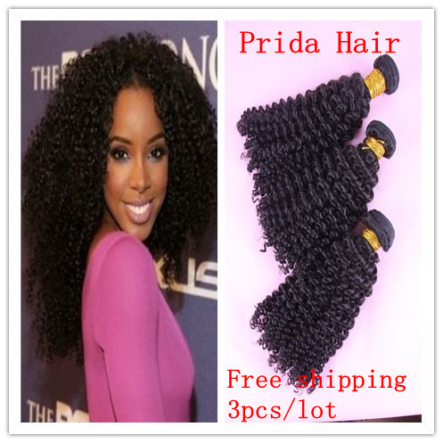5A unprocessed virgin mongolian afro kinky curly weft hair extension,3pcs/lot human hair weave bundles