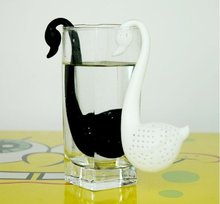 Free shipping,wholesale teaspoon ,Tea filter,swanTea making device,tea bags,tea set, tea pot sets ,black&white