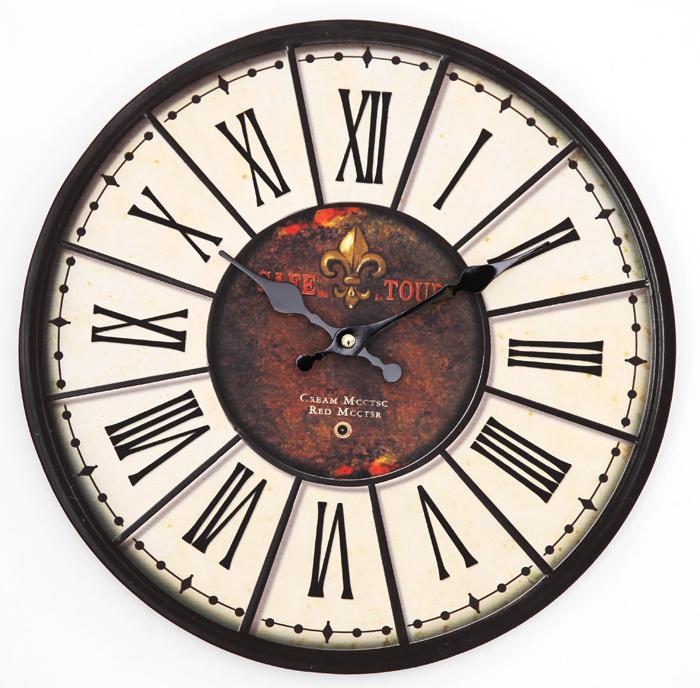 022165 Free Shipping High Quality Wall Clock Fashion Decoration Clock Colorful Garden Decor