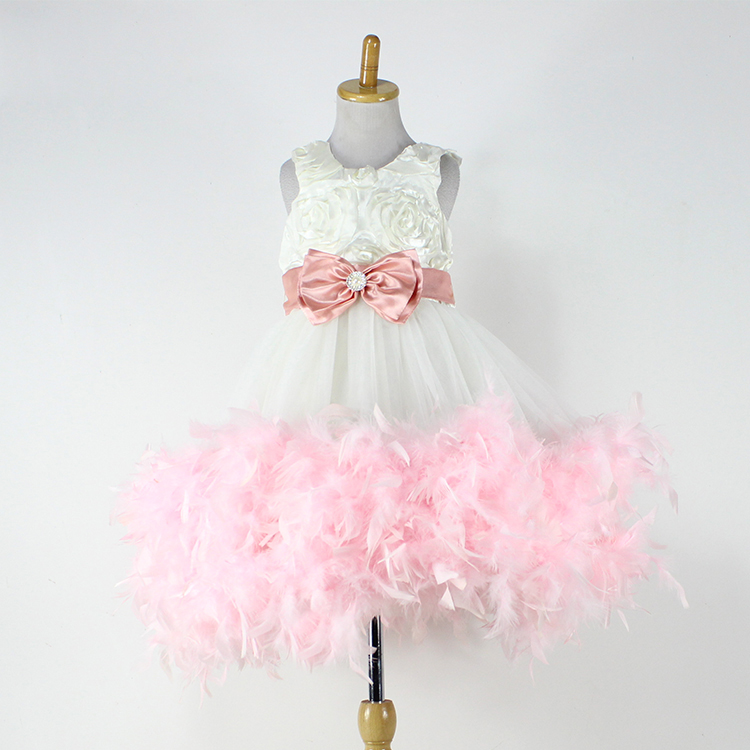 Free shipping Baby Feather Dress Baby Girl Beautiful Dress Party Princess Dress<br><br>Aliexpress