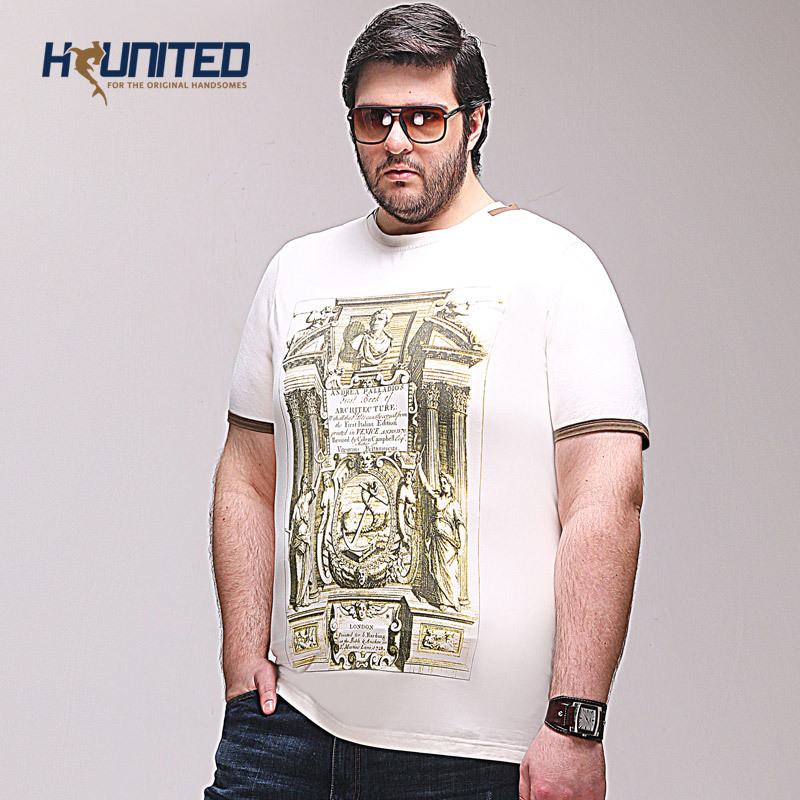 Plus size tshirts eu us fashion casual o neck t shirt man for Large shirt neck size