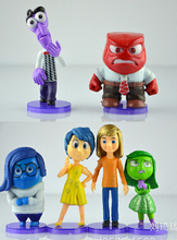 garage kit figure toy action cartoon movie inside out PVC toy 6 pieces Decoration gift for friends(China (Mainland))