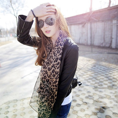 hot sale lace chiffon neckerchief scarves shawl autumn and spring stoles women designer scarf fashion shawl silk leopard print(China (Mainland))