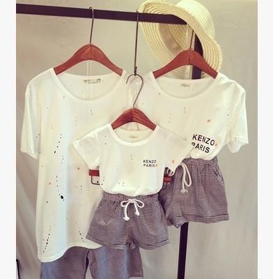 Специальное предложение летом 2015 семья комплект одежды родитель - ребенок наряд ...