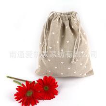 2016 New Limited Pencil Bag Pen Case Lapices Wholesale Cotton Bags Mianma Cloth Pocket Bag Love Folding Drawstring 14*16cm Az(China (Mainland))