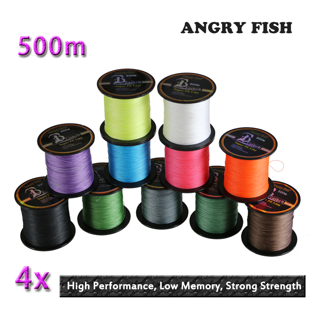 Hot New 500m 4x Braided Fishing Line 11 Colors Super PE Line Strong Strength(China (Mainland))