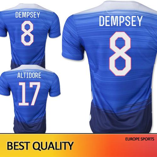 Free Shipping american Soccer Jersey 2015 Shirts 15 16 HOWARD BRADLEY BECKERMAN ALTIDORE DEMPSEY 2016 survetement Football(China (Mainland))