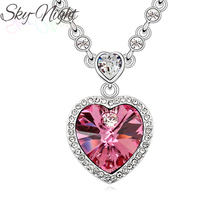Fashion Titanic Ocean Heart Pendant Necklace For Women New hot Sale Crystal Rhinestone Romantic love Pendants