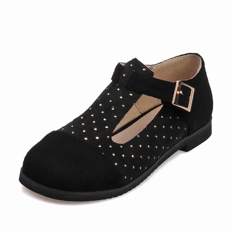 2016 Brand 34-51 Mary Janes T Strap Patent Round toe Women's Shoes Square Heels Platform Shoes Spring Autumn E1206
