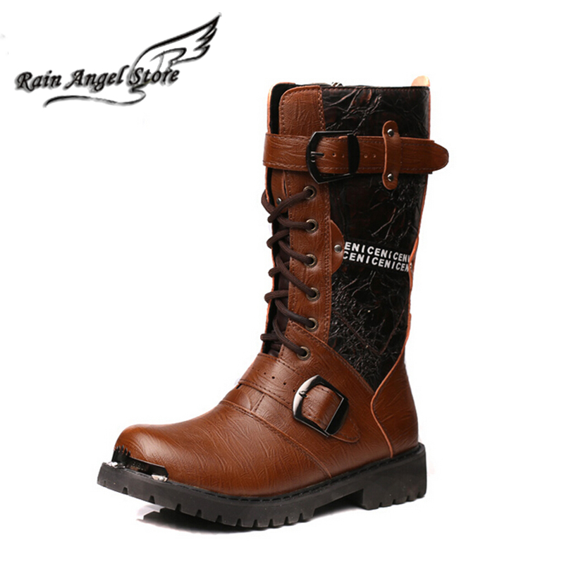 Vintage denim man western martin boots  high top  fashion  mens boots free shipping<br><br>Aliexpress