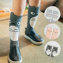 2016 hot Girl Boy Animal School Cotton Anti-slip Knee High Kids Baby Socks(China (Mainland))