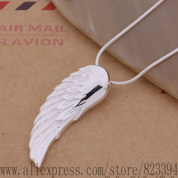 F3 AN146 925 sterling silver Necklace 925 silver fashion jewelry pendant wing dzjamqqa ajmajata