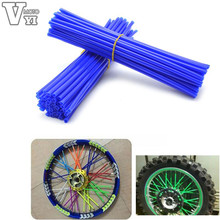 ONE Set motorcycle Dirt Bike Enduro Road Wheel RIM Spoke Skins covers YAMAHA Honda 125 SUZUKI 250 YZ RM KX CR - VYI Motorcycle Accessories Store & RACING PARTS store