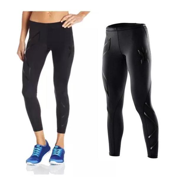 Бренд дамы спорт бег брюки сжатия колготки велосипедные женщины брюки запуск фитнес ...