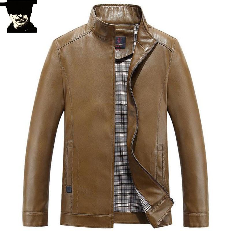 Leather Jacket Man Coat Leather Jacket Men Solid Mens Leather Jackets And Coats Jaqueta de Couro Homme Chaqueta Cuero Hombre