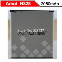 Amoi N828 Battery New Original NO.14 2050mAh Battery Amoi N828 N818 N820 N821 N850 N828T In Stock(China (Mainland))
