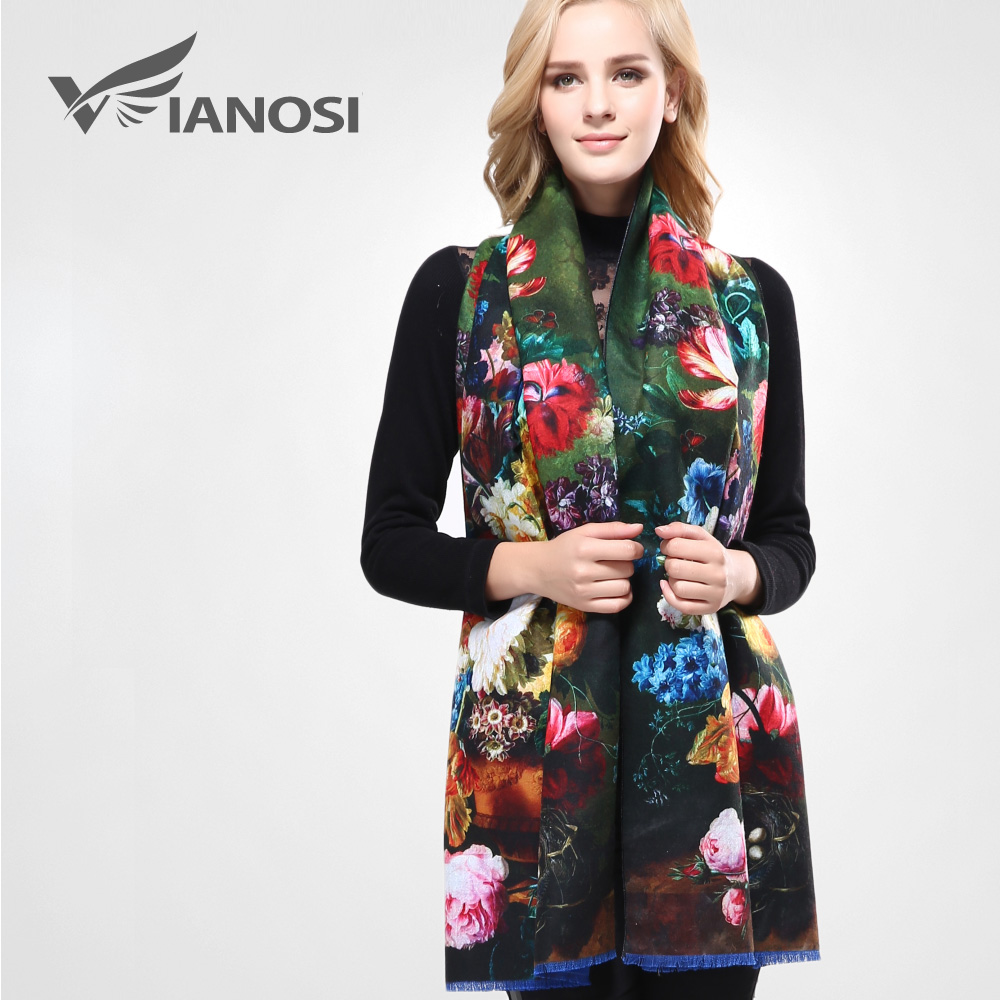 [VIANOSI] 2016 Newest Design Bandana Printing Winter Scarf Women Shawls Thicken Warm Scarves Wool Brand Scarf Woman Wrap VA070(China (Mainland))