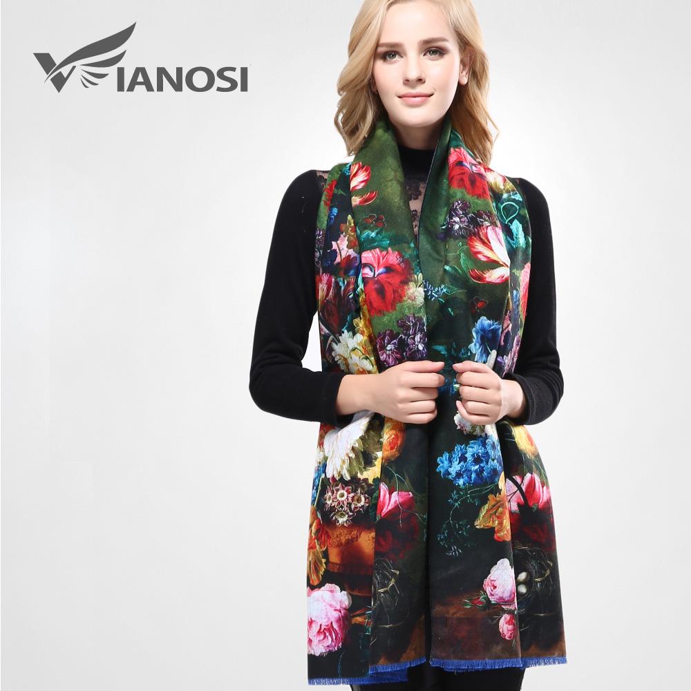 [VIANOSI] Newest Design Bandana Printing Winter Scarf Women Shawls Thicken Warm Scarves Wool Brand Scarf Woman Wrap VA070(China (Mainland))