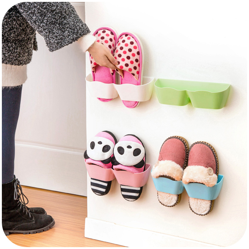 Shoe Rack Plastic Shelf Prateleira Holder Hanger Bathroom Wall Storage Estanteria Organizador Organizer Shelving Special Offer(China (Mainland))