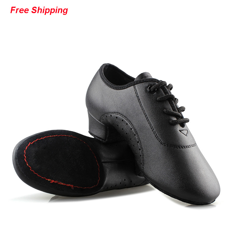 Professional Black Tango/Jazz/Salsa/Latin Dance Shoes Boys(China (Mainland))