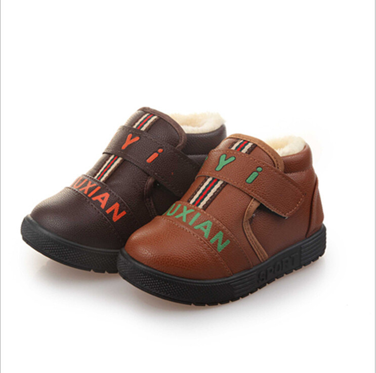 Hot 2015 Autumn And Winter Warm Shoes Children Leather ...