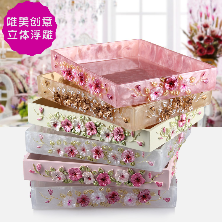 The Bathroom Tray Washing Station Multifunction Cosmetic Disc Disc Home  Furnishing Bathroom Set Decoration Style(