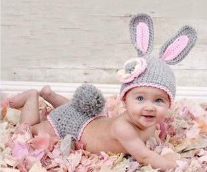 Newborn Baby Costume Photography Prop Knit Crochet Beanie Animal Hat Set rabbit(China (Mainland))