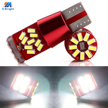 Buy YM E-Bright 12V-24V !! 10PCS T10 W5W 194 168 3014 27 SMD 27 Led Canbus Error Free License Plate Lights Reading Lamp 320LM 6500k for $10.55 in AliExpress store