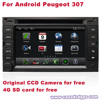 Android Peugeot 307 GPS LCD Radio 2 Din DVR WIFI 3G CCD Camera SD Card for free Best Quality Best Service Free Shipping+Gifts