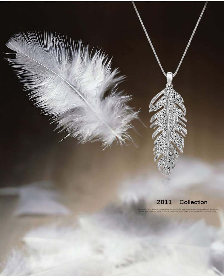 2016 trendy fashion business simple and elegant fashion Austrian crystal Bohemian crystal necklace - love wings(China (Mainland))