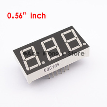 "Free shipping (10Pcs/lot) Wholesale 0.56"" inch 3 Digits 7 Segment Segment Red LED Numeric Digital Display,Common Anode(China (Mainland))"