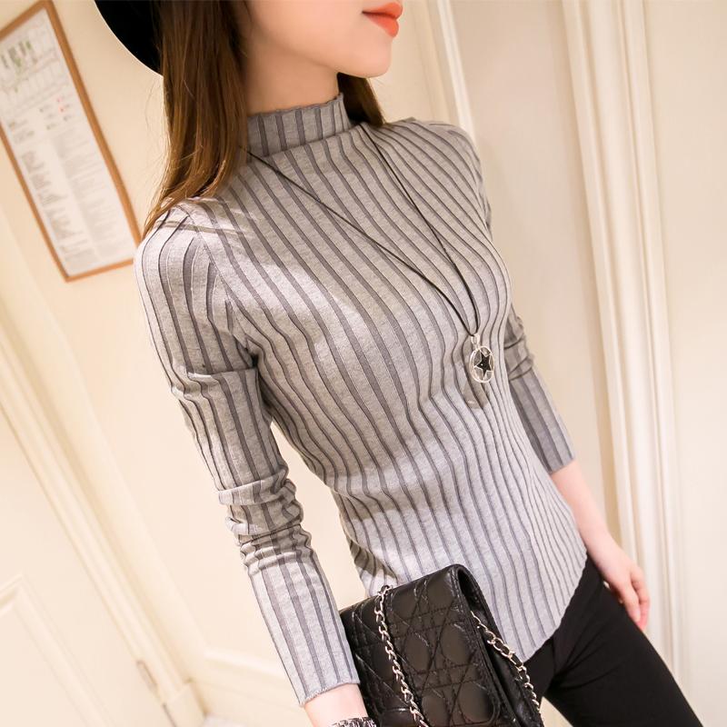 Knitted Turtleneck Sweater Women 2016 New Fashion Autumn Winter Long Sweaters Tops Women's Casual Crochet Turtlenecks(China (Mainland))