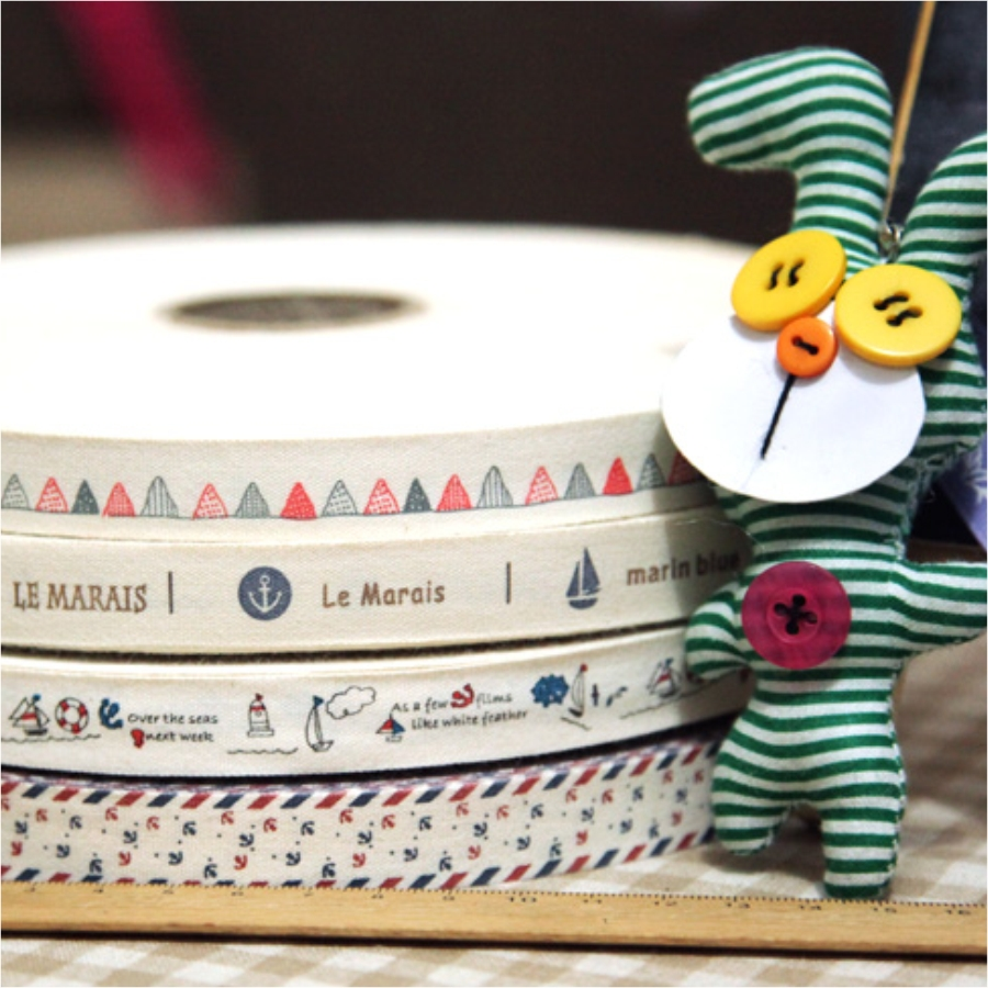 Manual grocery group1.5CM width cotton ribbons handmade clothing label Grosgrain Ribbon DIY accessory sewing tapes Free Shipping(China (Mainland))