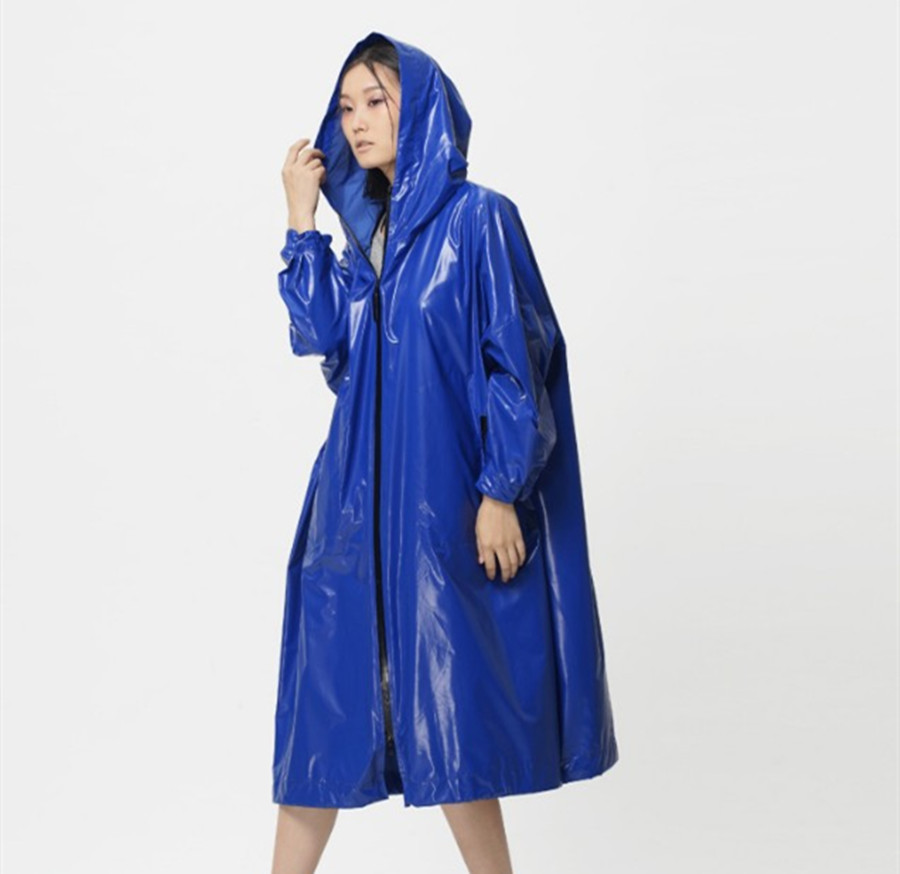 BACHN Original Design Novelty Personality Spring Autumn Glossy Waterproof Long-Sleeve Hooded Trench Loos Plus Size Long RaincoatОдежда и ак�е��уары<br><br><br>Aliexpress