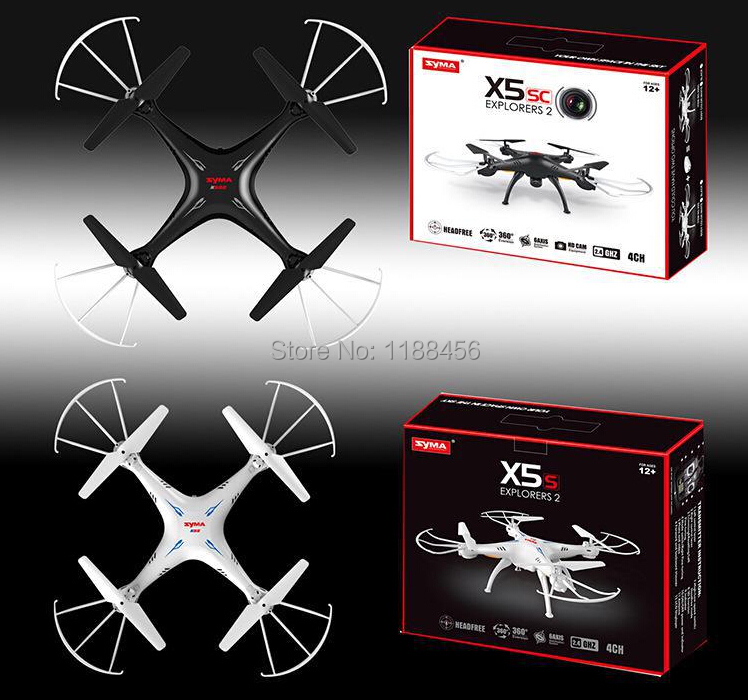 (In stock) 100% Original Syma X5SC 4CH 6-Axis Quadcopter with 2MP Camera Headless Mode