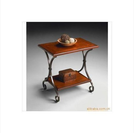 The new American Iron Coffee Tables rectangle retro creative leisure table wood coffee table a few phone Specials(China (Mainland))