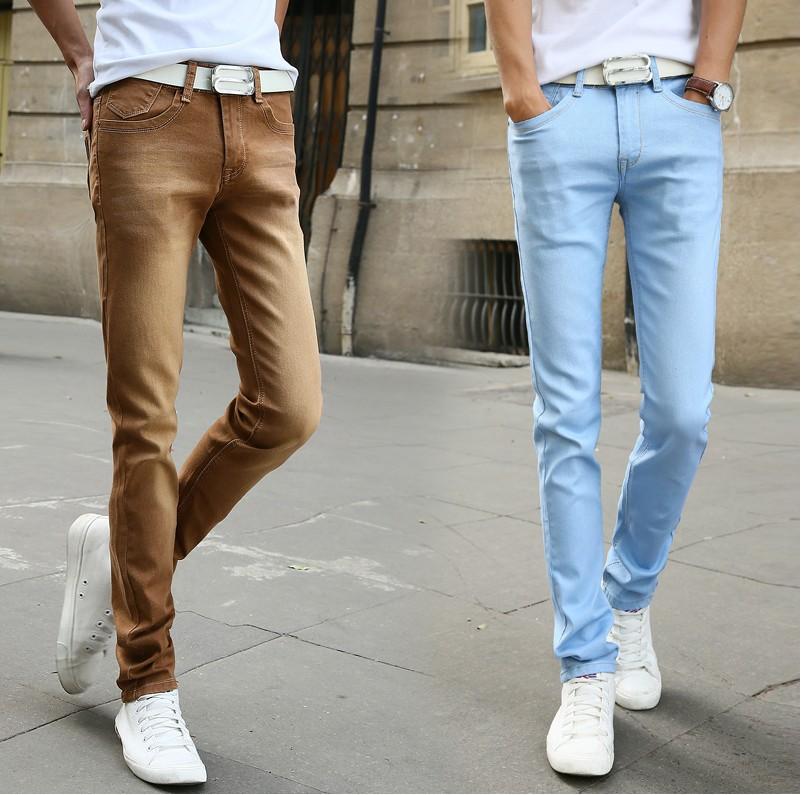 2017 Long Jeans Men Denim Pants Jeans Slim Fit Skinny Pant