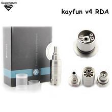 electronic cigarette RDA kayfun v4 atomizer rebuildable dripping atomizers 510 thread taifun gt vaporizer - Supermanmall store