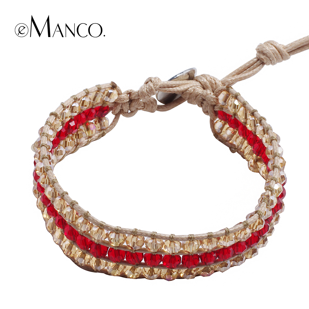 New simple design trendy adjustable fashion hand woven bracelet rope chain for women eManco 2016 fashion crystal jewelry BL06378(China (Mainland))