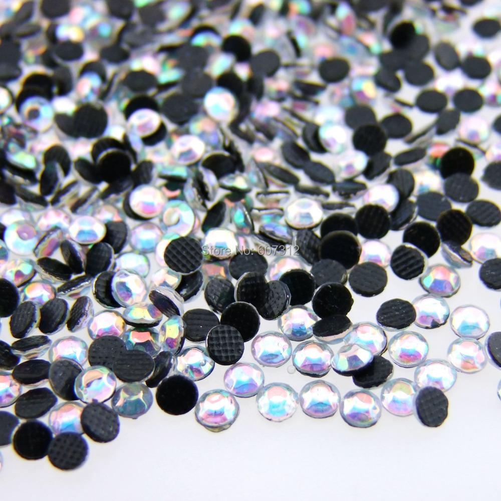 SS10 2003mm AB Clear Flatback Hot fix Rhinestones Crystal Gems Nail Art Rhinestone RH-22 - L & D Crafts Firm store