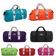 High Quality Unisex 210 Waterproof Nylon Large Capacity Ultralight Foldable Outdoor Gym Bag Sports Bags Travel Duffle Bags(China (Mainland))