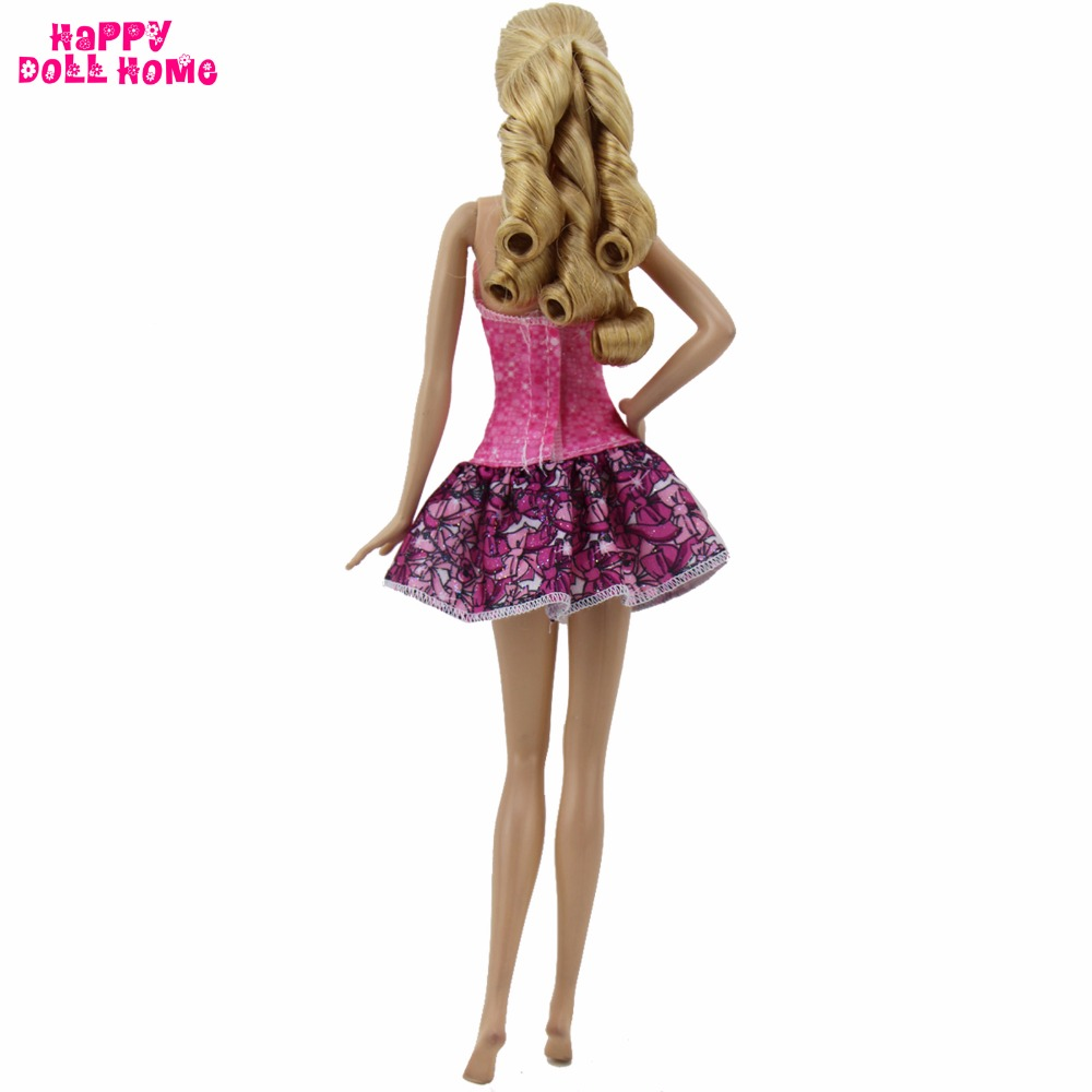 Style Sportwear Informal Outfit Gown Pink Mini Brief Skirt Handmade Costume For Barbie FR Kurhn Doll Garments Dollhouse Child Toy