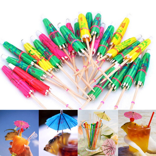 50 Pcs/lot Paper Cocktail Wedding Event Party Umbrellas Drinks Picks Luau Sticks Colour Mixture Holidays Drinking Supplies(China (Mainland))