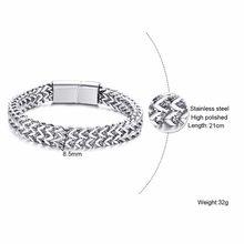 גברים באלי Tulang נאגה Silverly כפול שורות דוחה פרנקו חיטה שרשרת צמיד נירוסטה 12mm רחב כבד צמיד 8.6in(China)