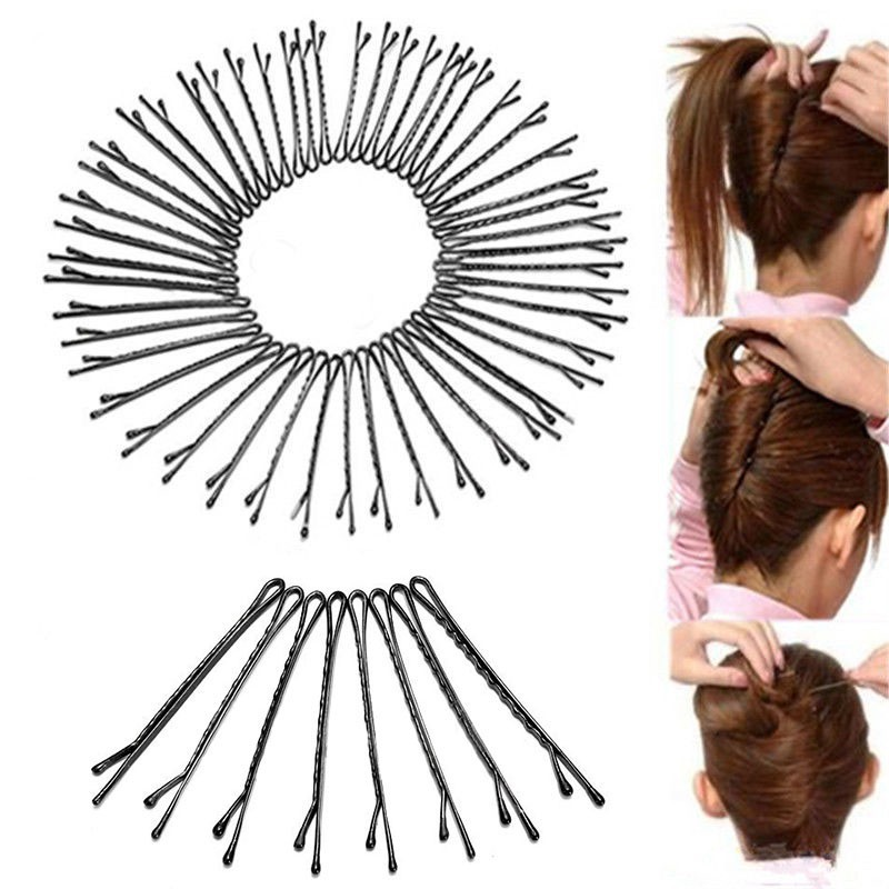 Free Shipping 60Pcs Hair Clips for Women Bobby Pins Invisible Curly Wavy Grips Salon Barrette Hairpin 1set(China (Mainland))