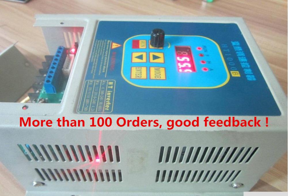 Фотография VFD Used frequency converter inverter 7A HengTai HT1000B 220V 1.5KW drive 380V AC Motor Free Shipping