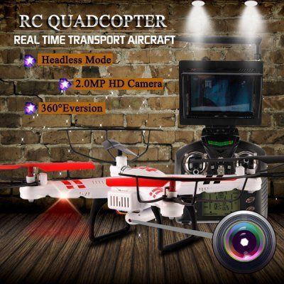 WLtoys V686G 4CH 5.8G FPV Real Time Transmission 2.4G RC Quadcopter with 2.0MP Camera Headless Mode Auto(China (Mainland))