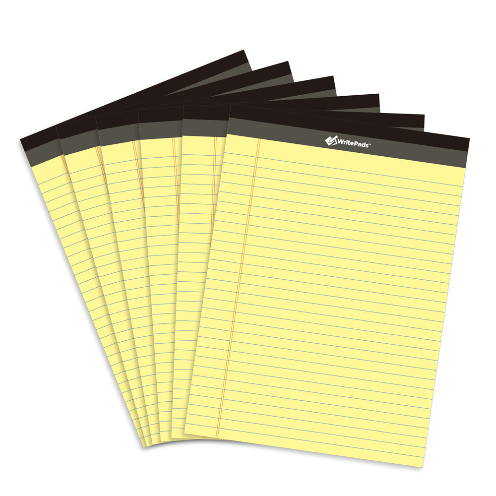 Yellow Legal Writing Pad 6pcs A4 Memo Usa Style 50 Sheets Compaq Hp Oem P4sd Front Panel Wiring Diagram Getsubject Aeproduct
