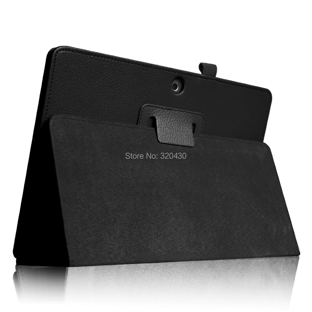 FREE Freight ME302C Folio Case for ASUS MeMO Pad FHD 10 ME302C Tablet cover case Slim With Auto Sleep / Wake Function - Black(China (Mainland))